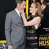 Amy Adams showed PDA with her fiancé, Darren Le Gallo.