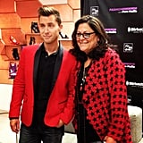 Fern Mallis and Lance Bass cohosted a SiriusXM FNO discussion during FNO. Source: Instagram user s5a