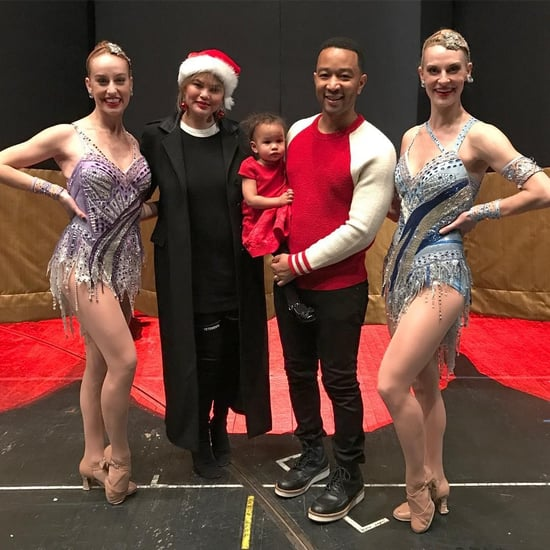 Chrissy Teigen and John Legend Visit the Rockettes With Luna