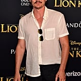 Pictured: Pedro Pascal at The Lion King premiere in Hollywood.