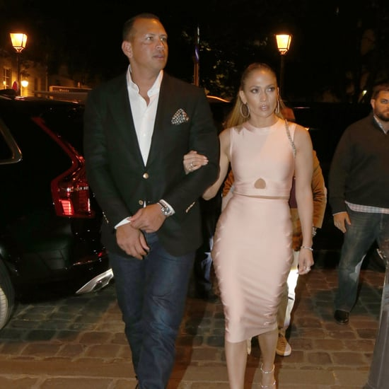 Jennifer Lopez Mistress Rocks Crop Top and Skirt June 2017