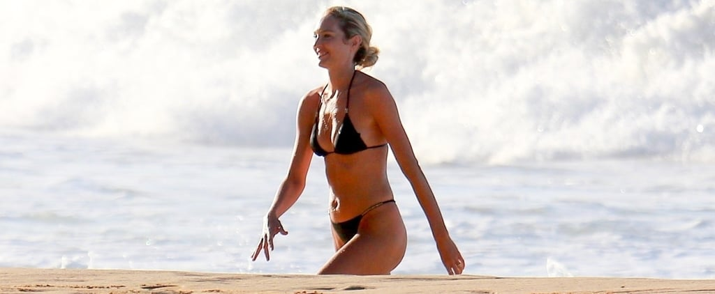 Candice Swanepoel Black Bikini
