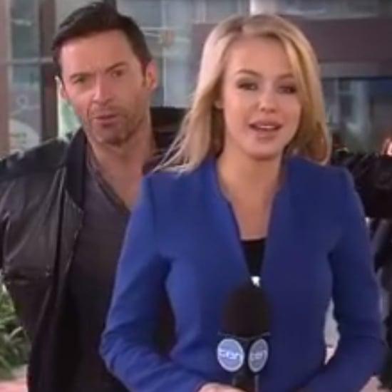 Hugh Jackman Photobombs Reporter on Live TV