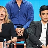 Go On costars Julie White and John Cho addressed the press during the conference.