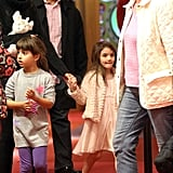 Katie Holmes and Suri Cruise made their way through the American Girl store in NYC.