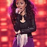 Jessica Sanchez didn't seem too fazed by her close brush with elimination.
