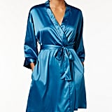 A Satin, Colorful Robe to Get Ready For Bed in Style