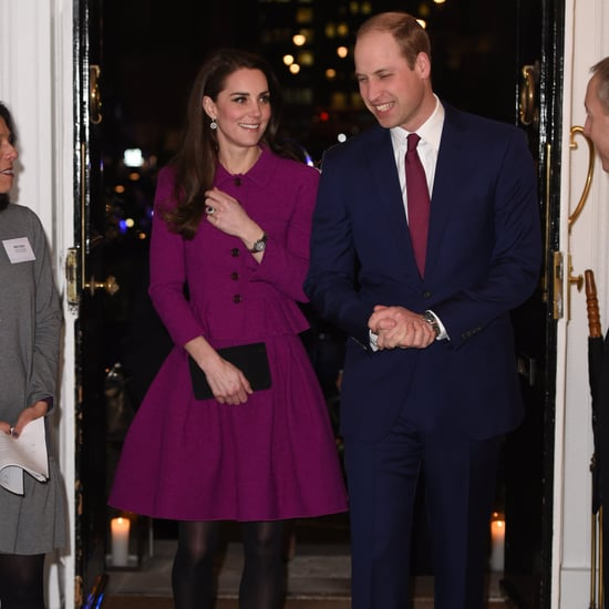 Duchess of Cambridge Wearing Purple Oscar de la Renta Feb 17