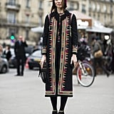 The much-photographed Anya Ziourova gave us a Winter gypset look.  Source: Le 21ème | Adam Katz Sinding
