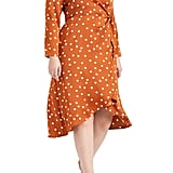 Eloquii Polka Dot Wrap Dress