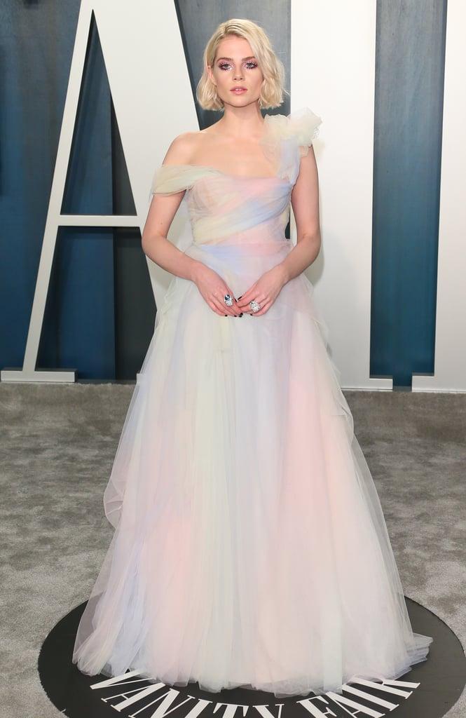 Lucy Boynton's Miu Miu Dress at the Oscars Afterparty 2020