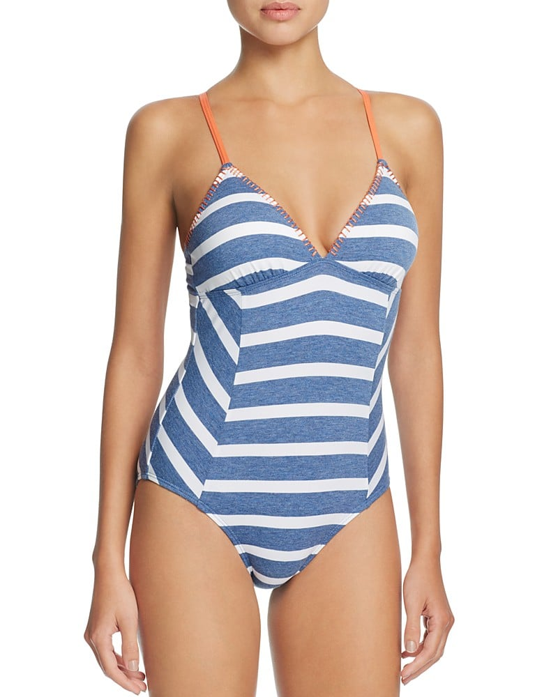 Splendid Chambray Cottage Stripe One-Piece