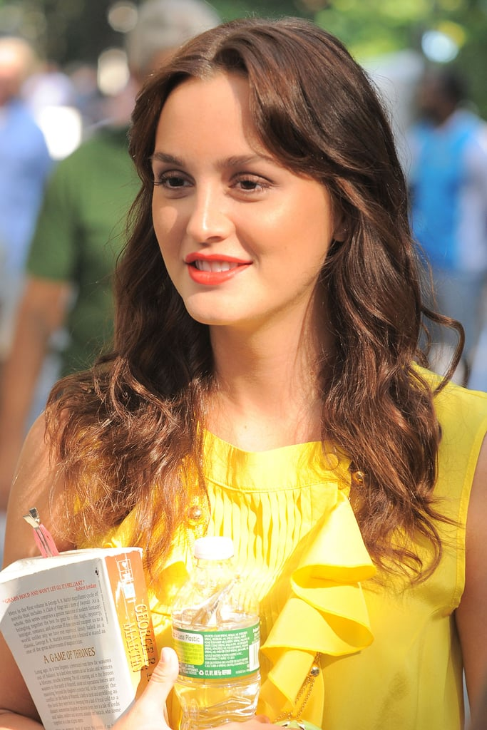 Leighton Meester toted a copy of A Game of Thrones on the Gossip Girl set.