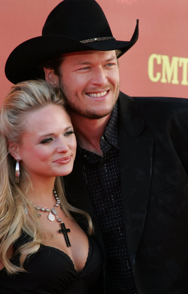 "2005: Blake and Miranda first met in passing in 2005 before being paired together to sing David Frizzell and Shelly West's hit ""You're the Reason God Made Oklahoma"" at the 2005 CMT 100 Greatest Duets special. Their chemistry was undeniable, but Blake was married, and the two were just friends. ""I've never had that kind of experience with anybody,"" Blake told VH1's Behind the Music at a later date. ""I was a married guy, you know? Looking back on that, I was falling in love with her, right there on stage."" 2006: The country singers began their romance in 2006 after Blake divorced his first wife, Kaynette Williams, in February of that year. The couple kept their romance out of the limelight in the beginning and kept themselves busy on the road, only starting to really date after the divorce was official. 2007: The couple made their public debut as a couple at the CMT Music Awards in Spring 2007."