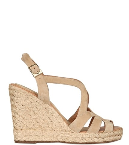 Paloma Barceló's suede and rope sandal wedge ($193) was made for easy, breezy maxi dresses.