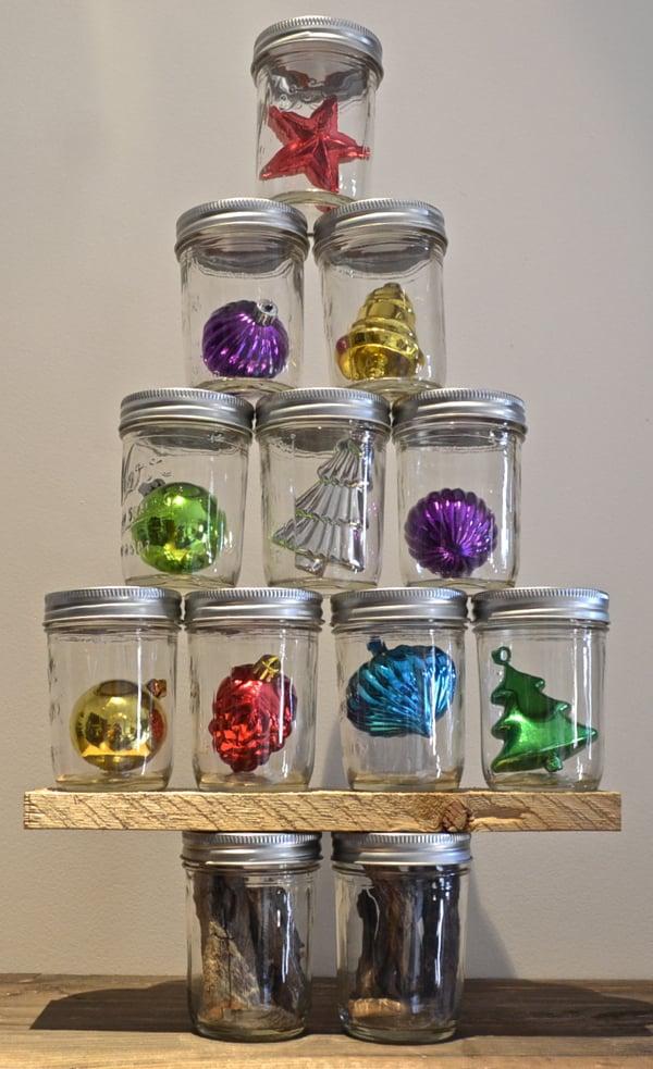 Ornament Tree Mason Jar Holiday Decor Popsugar Home