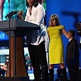 Michelle Obama gave a speech during the concert.