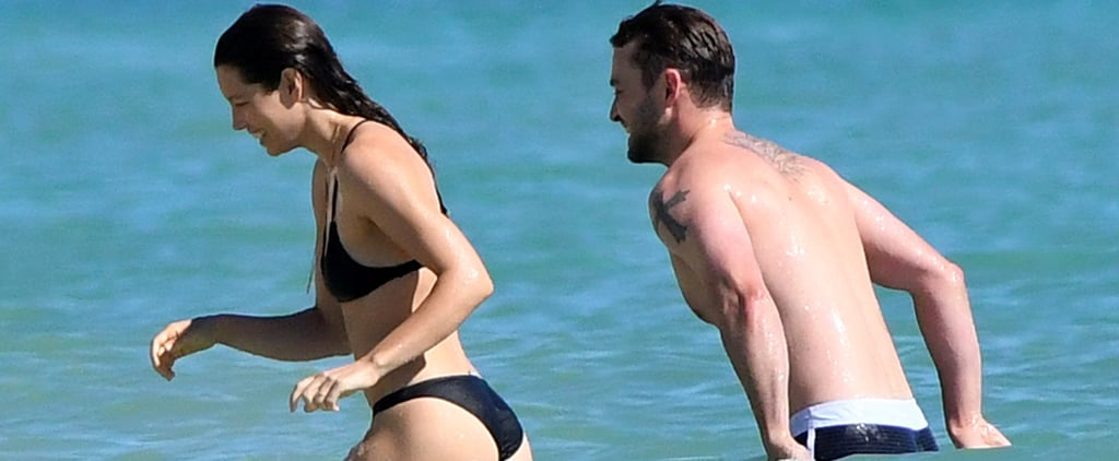 Justin Timberlake and Jessica Biel Are Like Kids in a Candy Store While Swimming in the Ocean