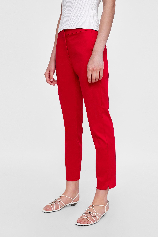 variety styles of 2019 matching in colour top design Zara Jogger Waist Pants | If Friends Were Still On, Rachel ...