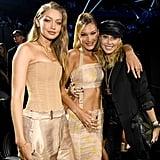 Gigi Hadid, Bella Hadid, and Tish Cyrus at the 2019 MTV VMAs