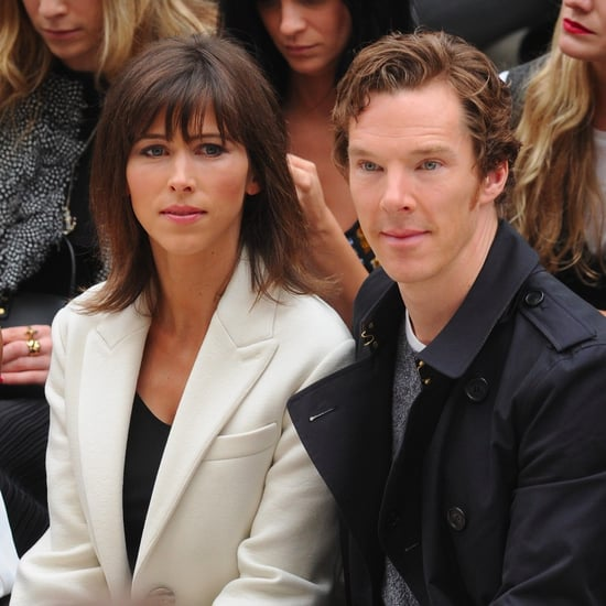Benedict Cumberbatch and Sophie Hunter at Burberry Show 2015