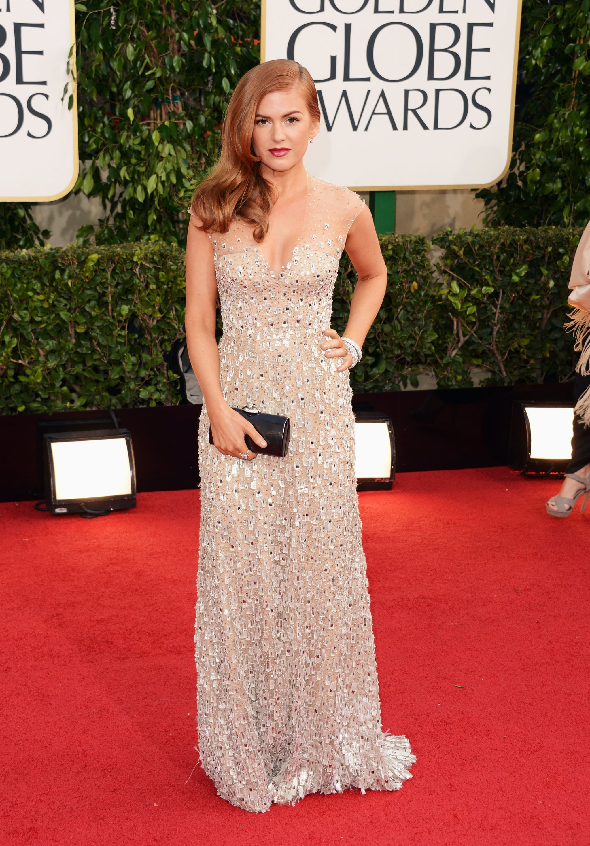 Isla Fisher Nude Photos isla fisher chose a nude, sequined number. | all the ladies