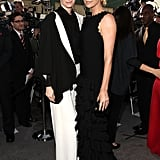 Lovely leading dames Tilda Swinton and Charlize Theron look ultra glam.