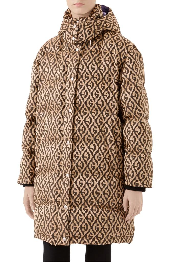 Gucci GG Rhombus Print Down Puffer Coat