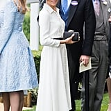 Meghan Markle in a White Dress 2018
