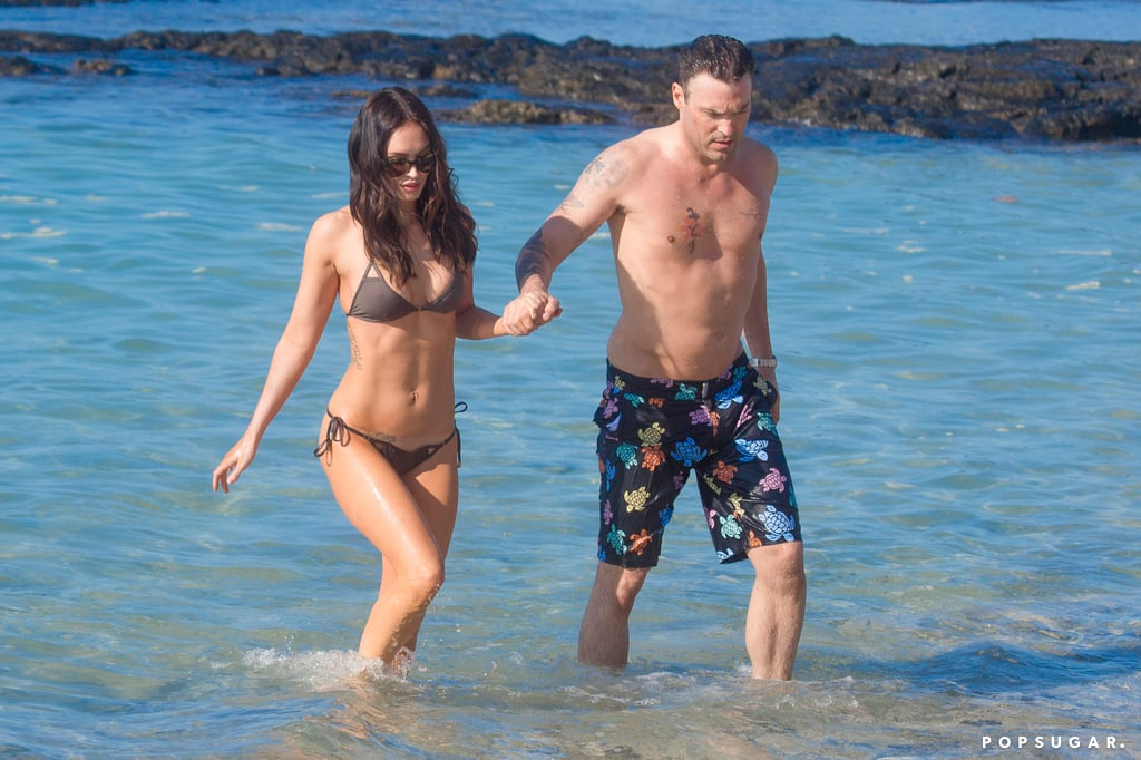 Megan and Brian flaunted their beach bodies during a day in Hawaii in January 2015.