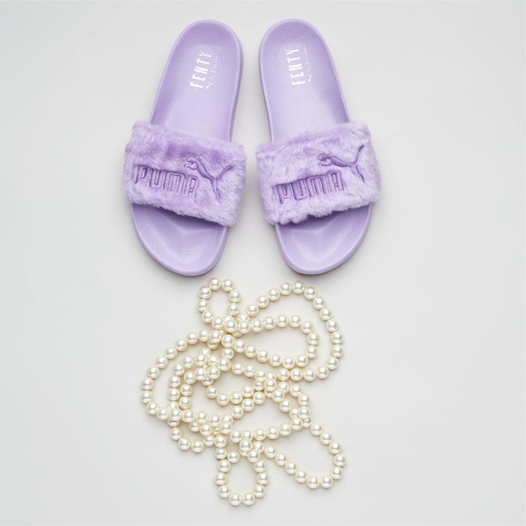 Fur Women's Slide Sandals in Orchid Bloom ($90)