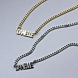 The M Jewelers Mini Choker Nameplate Necklace