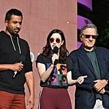 Kal Penn, Rachel Brosnahan, and Robert De Niro