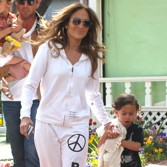 Jennifer Lopez Visiting Easter Bunny With Max and Emme