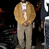 Kanye West at Paris Fashion Week 2020