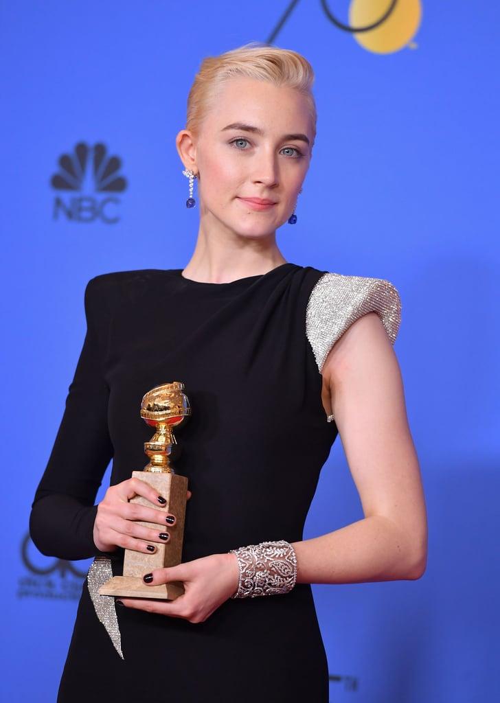 Saoirse Ronan at the Golden Globes 2018