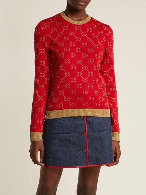 2d995e8202 Gucci GG Jacquard-Knit Cotton-Blend Sweater | Best Gucci Sweaters ...