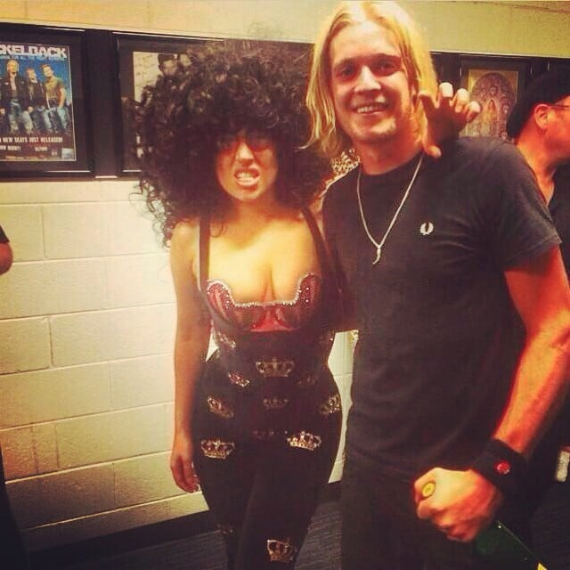 Lady Gaga wore a tight corset and wig at a performance.  Source: Instagram user ladygaga