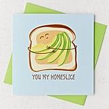 Avocado Slice Greeting Card