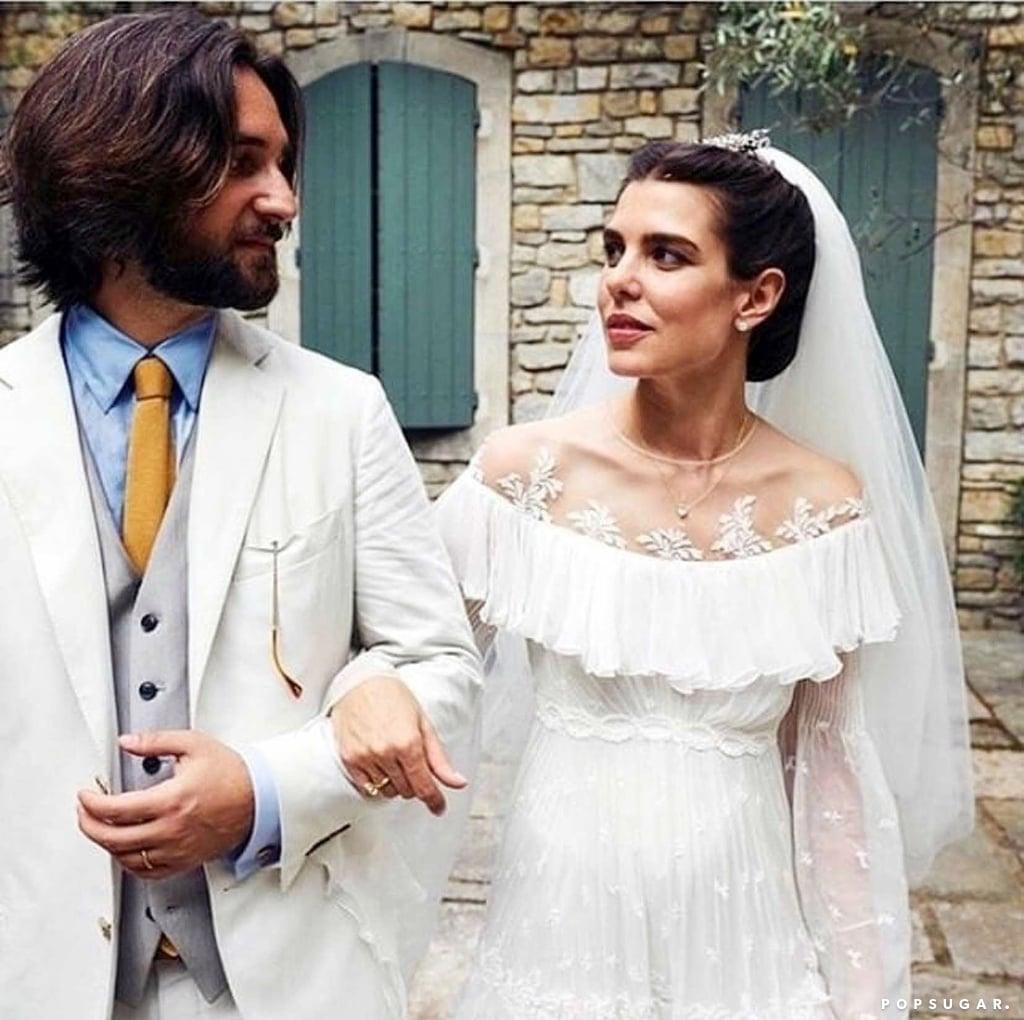 Charlotte Casiraghi's Giambattista Valli Haute Couture Wedding Dress