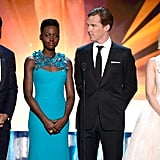 Costars Chiwetel Ejiofor, Lupita Nyong'o, and Sarah Paulson took the stage with Benedict.