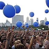 Blue balloons fell from the sky in 2006.