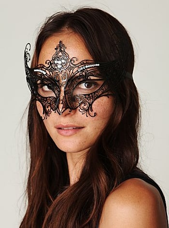 No hostess will turn down this beautiful Italian mask.  Libellula Italian Mask ($158)