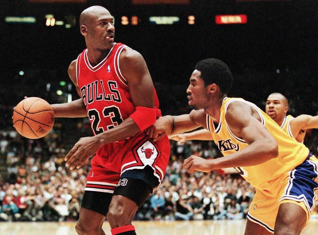 Photos of Michael Jordan and Kobe Bryant