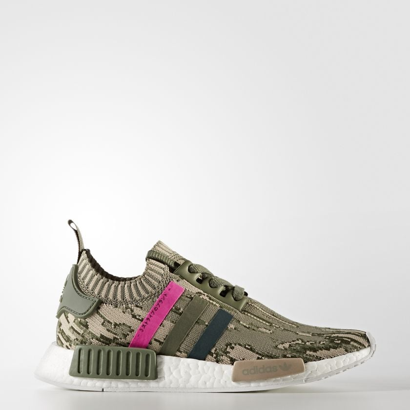 These adidas Primeknit Sneakers ($170) offset a tough camouflage print with hot pink stripes for an unexpectedly cool combo.