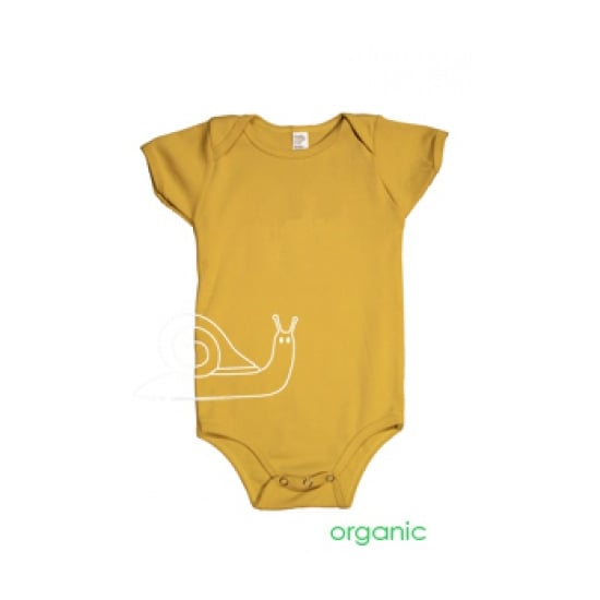 This garden pest certainly makes a cute onesie graphic. Manny and Simon Snail Organic One Piece ($28) is also made in the US.