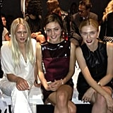Laura Enever, Phoebe Tonkin and Gracie Otto had front row seats at Aje. Source: Instagram user gracieotto