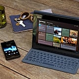 Sony Xperia Tablet S in action with a keyboard cover.