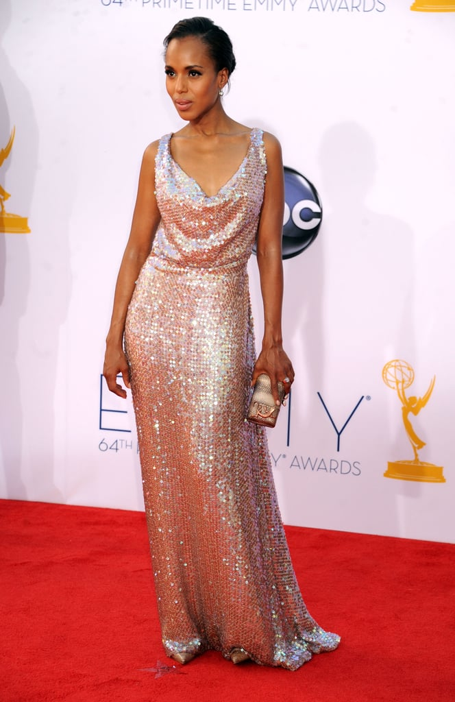 Kerry Washington showed off her curves in a sparkly gown.