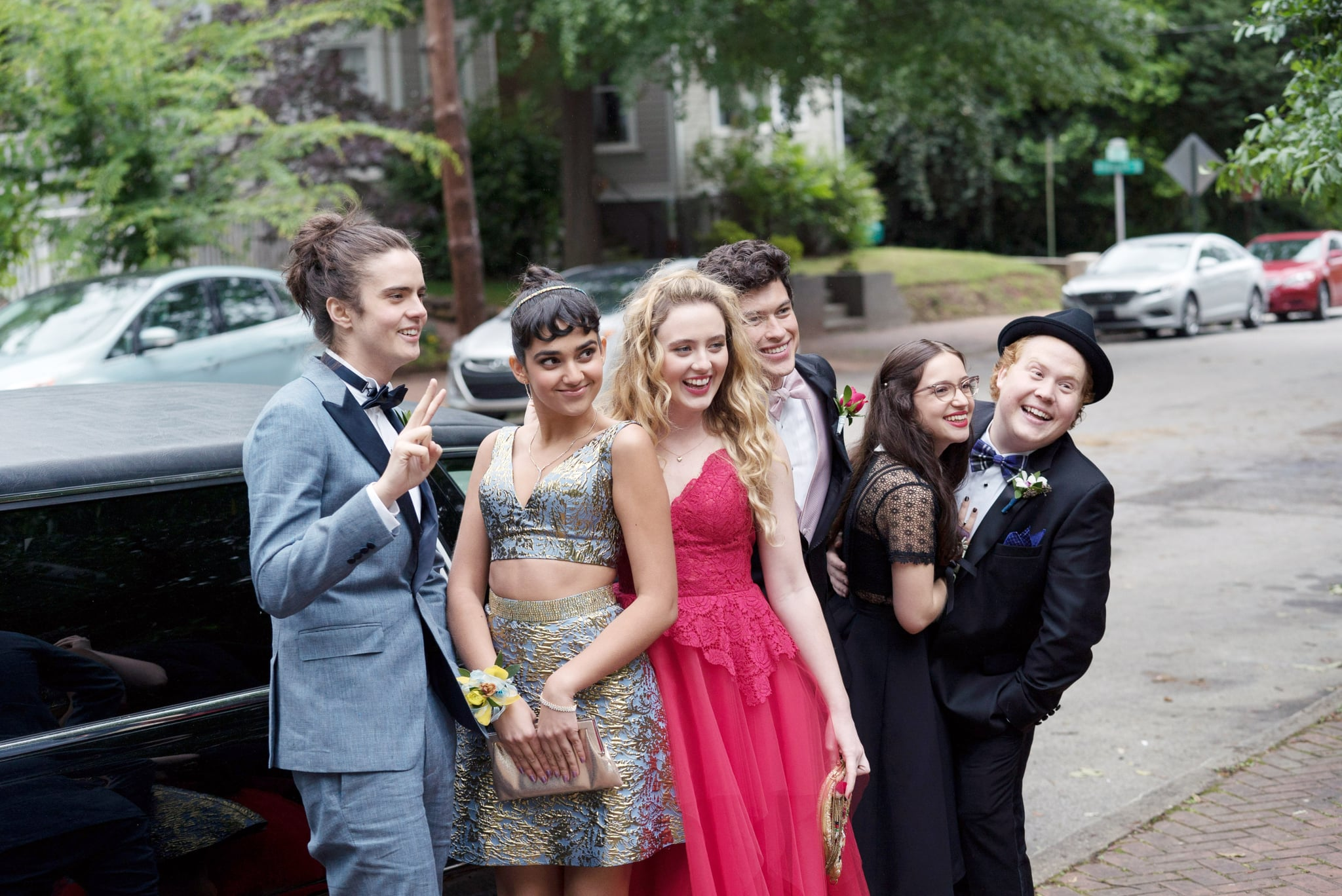 BLOCKERS, from left: Miles Robbins, Geraldine Viswanathan, Kathryn Newton, Graham Phillips, Gideon Adlon, Jimmy Bellinger, 2018. ph: Quantrell D. Colbert / Universal Pictures /Courtesy Everett Collection